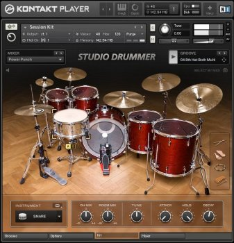 Библиотека ударных Native Instruments Studio Drummer v1.1.0 (KONTAKT)