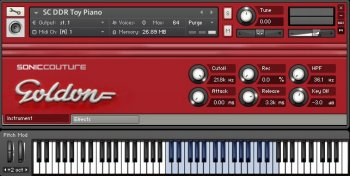 Библиотека сэмплов SonicCouture DDR Toy Piano (MULTiFORMAT)