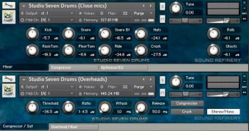 Библиотека сэмплов Sound Refinery Studio Seven Drums (Kontakt)