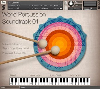 Библиотека перкуссии - Samplephonics World Percussion Soundtrack 01 (KONTAKT)