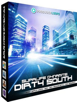 Сэмплы Producer Loops Supalife Dynamite Dirty South Vol 2