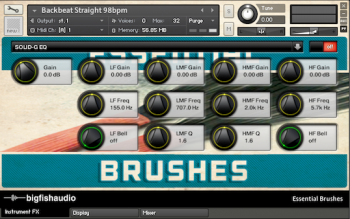 Сэмплы ударных Big Fish Audio Essential Brushes