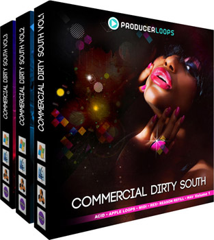 Сэмплы Producer Loops Commercial Dirty South Bundle (Vols 1- 3)