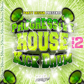 Сэмплы Party Design Progressive House Kick Drums Vol 2