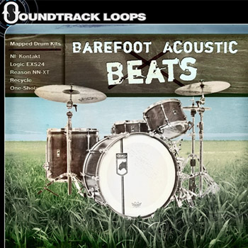 Сэмплы ударных - Soundtrack Loops Barefoot Acoustic Beats Drum Kits Mapped