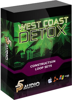 Сэмплы P5Audio West Coast Detox Hip Hop Loops Sets