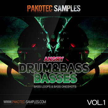 Сэмплы Pakotec Samples Angry D&B Basses Vol.1