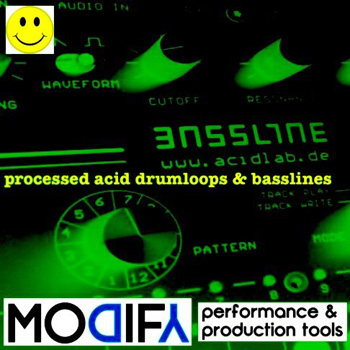 Сэмплы Modify Processed Acid Bass and Drums
