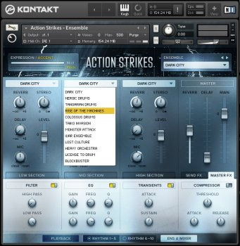 Библиотека сэмплов - Native Instruments Action Strikes (KONTAKT)