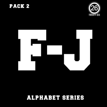 Сэмплы Twenty-Six Alphabet Series: F-J Bundle