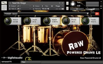 Сэмплы Big Fish Audio Raw Powered Drums LE