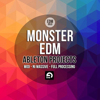 Проект EDM Gold Monster EDM Ableton Projects