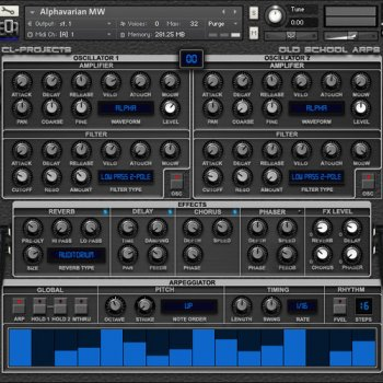 Библиотека сэмплов - CL Projects Old School Arps (KONTAKT)
