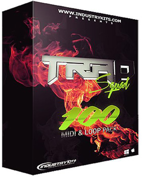Сэмплы Industry Kits Trap Squad 100 MIDI and Loop Pack