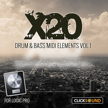 Проект Clicksound X20 Drum and Bass MIDI Elements Vol.1