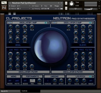 Библиотека сэмплов - CL-Projects Neutron Pad Synthesizer (KONTAKT)