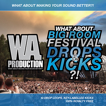 Сэмплы W.A Production What About Big Room Festival Drops and Kicks
