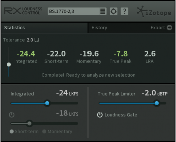 iZotope RX Loudness Control v1.03 RTAS AAX x86 x64