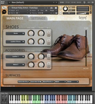 Библиотека сэмплов - BOOM Library Virtual Foley Artist - Footsteps (WAV/KONTAKT)