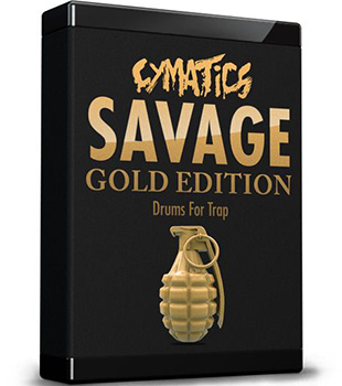Сэмплы Cymatics Savage Drums For Trap Gold Edition