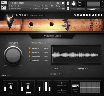 Библиотека сэмплов - Impact Soundworks Ventus Ethnic Winds - Shakuhachi (KONTAKT)