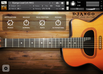 Библиотека сэмплов - Impact Soundworks Django Gypsy Jazz Guitar (KONTAKT)
