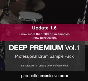 Сэмплы ударных - Production Music Live Deep Premium Vol.1 Drum Sample Pack
