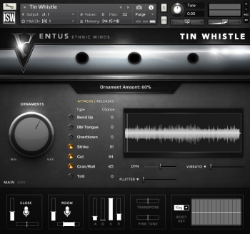 Библиотека сэмплов - Impact Soundworks VENTUS Ethnic Winds Tin Whistle (KONTAKT)
