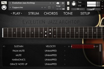 Библиотека сэмплов - Orange Tree Samples Evolution Jazz Archtop (KONTAKT)