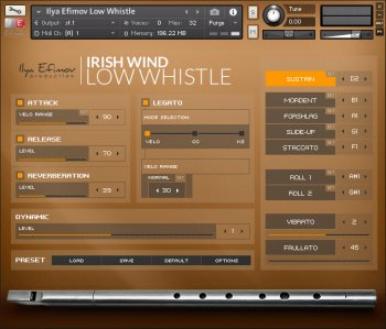 Библиотека сэмплов - Ilya Efimov Production Irish Low Whistle (KONTAKT)
