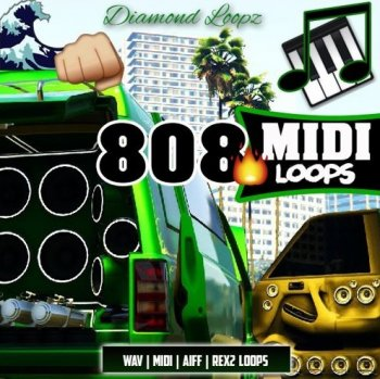 Сэмплы Diamond Loopz 808 Midi Loop Pack